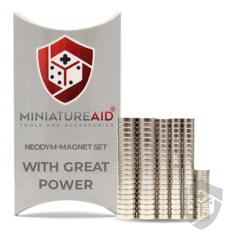 With Great Power Neodymium-Magnets-Set